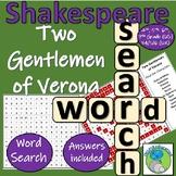 William Shakespeare - The Two Gentlemen of Verona - Character Wordsearch
