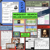 WILLIAM SHAKESPEARE BUNDLE Research Project Biography Graphic Organizer