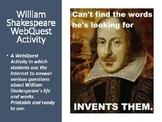 William Shakespeare WebQuest Activity