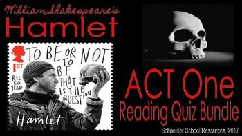 William Shakespeare's Hamlet: Complete Reading Quiz Bundle (Scenes 1-5)