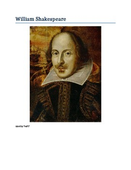 William Shakespeare's Identity Theft: Authorship Debate Websearch