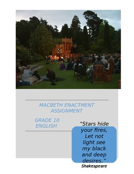 William Shakespeare's Macbeth: Interactive Student Enactment Assignment Activity