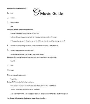 """William Shakespeare's Othello: Modern Movie Comparison """"O"""""""