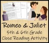 William Shakespeare's Romeo and Juliet - 5th & 6th Grade C