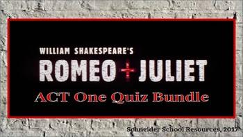 William Shakespeare's Romeo and Juliet: Complete Reading Quiz Bundle