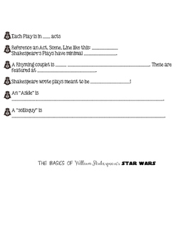 William Shakespeare's Star Wars Flipbook