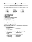 William Shakespeare's Julius Caesar--Final Test and Review Sheet