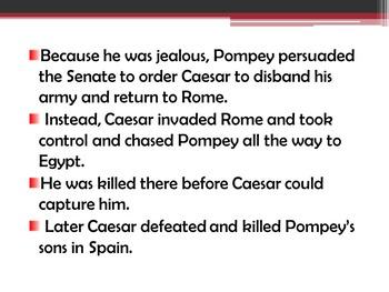 """William Shakespeare's """"Julius Caesar"""" : Background and Pre-reading Activities"""