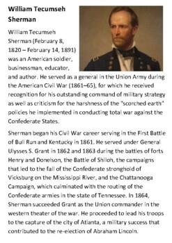 William Tecumseh Sherman Handout