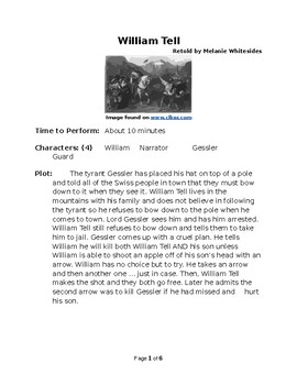 William Tell - Small Group Reader's Theater