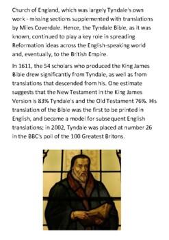 William Tyndale Handout