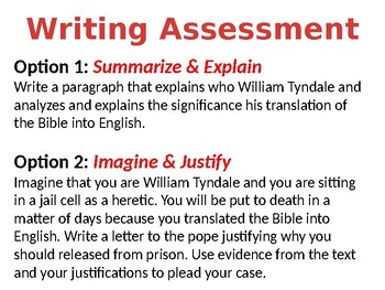 William Tyndale, Johan Gutenberg, & The Printing Press Lesson