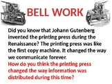 William Tyndale, Johan Gutenberg, & The Printing Press Lesson