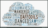 """William Wordsworth's """"I Wandered Lonely as a Cloud"""" Word Cluster"""