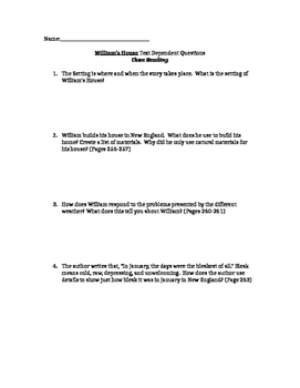 William's House Close Reading Questions