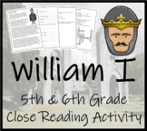 William the Conqueror - 5th & 6th Grade Close Reading Activity