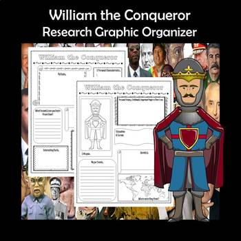 William the Conqueror Biography Research Graphic Organizer