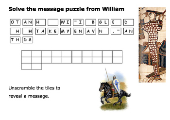 William the Conqueror Message Puzzle