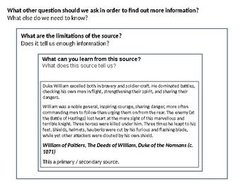 William the Conqueror Source Analysis Activity