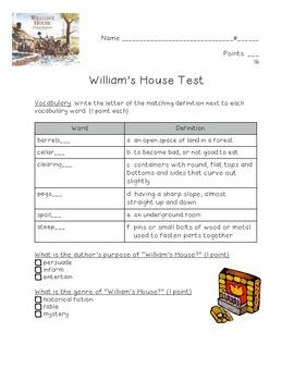 William's House Test---Kid-friendly!!