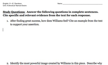 Non-fiction Essay: Williams reflects on success
