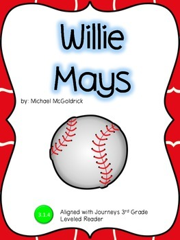 Willie Mays Guided Notes: 3rd Grade Journeys