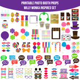 Willy Wonka Charlie and the Chocolate Factory Inspired Printable Photo Booth Pro