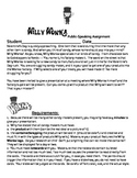 """Willy Wonka """" Design Your Own Candy"""" Public Speaking Assignment"""