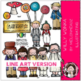Willy Wonka clip art - LINE ART - by Melonheadz