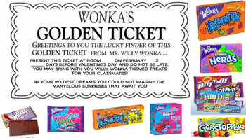 Willy Wonka Golden Ticket Worksheets & Teaching Resources   TpT