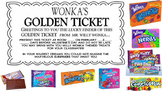 Willy Wonka Valentines and Golden Ticket