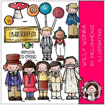 Willy Wonka clip art - COMBO PACK- by Melonheadz