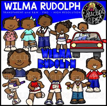 Wilma Rudolph Clip Art Bundle {Educlips Clipart}