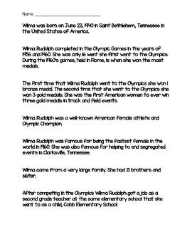 Wilma Rudolph Mini Biography