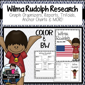 Wilma Rudolph Biography Research Bundle {Report, Trifold,