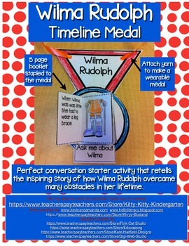 Wilma Rudolph Timeline Medal