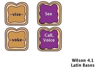 Wilson 4.1 Latin Base Word Study Sort