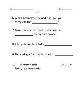 Wilson 7.4 Resources with assessment - tion