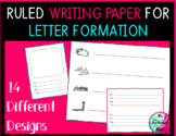 FUN Ruled WRITING Paper 14 designs for Letter Formation