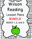Wilson Lesson Plans BUNDLE Substeps (Books) 1-3