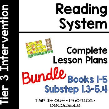 Reading System Tap It Out  Lesson Plans BUNDLE Substeps (Books) 1-5