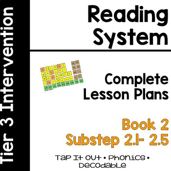 Reading System Lesson Plans SubStep (Book) 2 Tap-It-Out