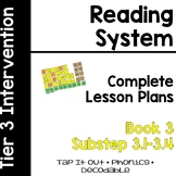 Reading System Lesson Plans Substep Book 3