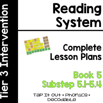 Reading System Lesson Plans Substep (Book) 5
