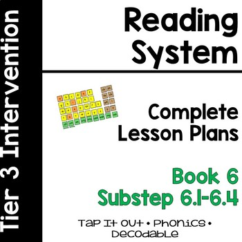 Reading System Lesson Plans Substep (Book) 6
