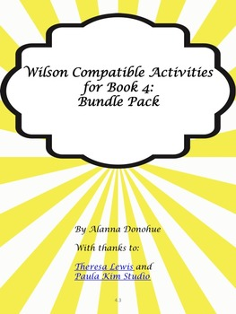 Activities for Multi-Sensory Reading Programs  (Bundle 4)