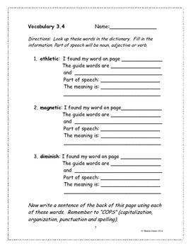 Multisyllabic Closed Syllable 3.4 Supplemental Homework Packet