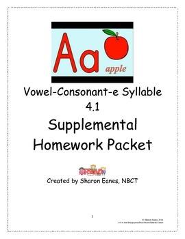 Vowel-Consonant-e 4.1 Supplemental Homework Packet
