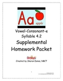 Vowel-Consonant-e and Closed Syllable 4.2 Supplemental Homework Packet TPT