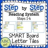 Reading System Steps 1-6 SMARTboard Letter Tile Sound Card Display